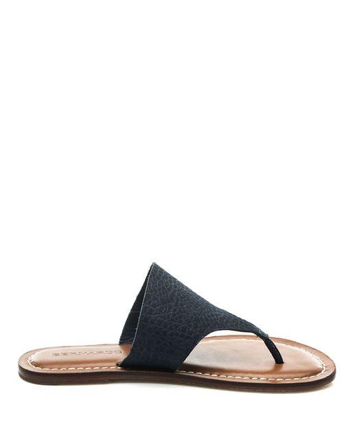 Bernardo | Blue Monica Leather Thong Sandals | Lyst