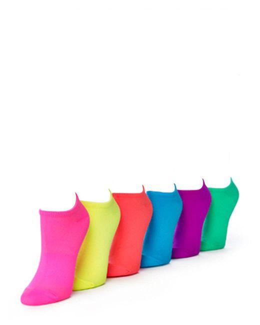 Hue | Pink Microfiber Socks 6 Pair Sport Pack | Lyst