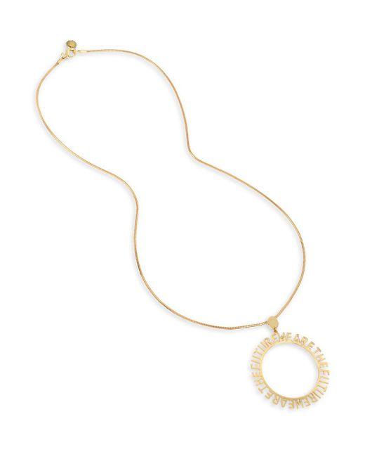 BCBGeneration Metallic Affirmation Goldtone Circle Pendant Necklace