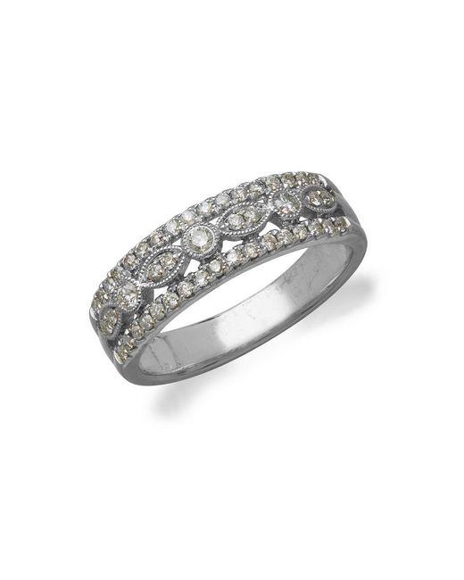 Lord & Taylor - Metallic Diamond 14k White Gold Ring - Lyst