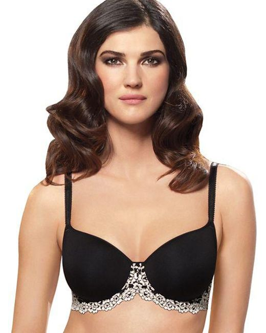 Wacoal - Black Embrace Lace Scalloped T-shirt Bra - Lyst