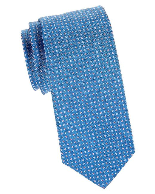 Brooks Brothers - Blue Textured Silk Tie for Men - Lyst