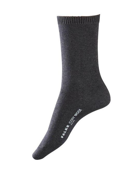 Falke - Gray Cosy Ankle Socks - Lyst