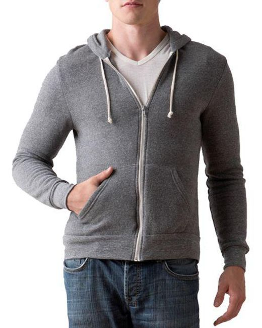 Alternative Apparel - Gray Rocky Zip Hoodie for Men - Lyst