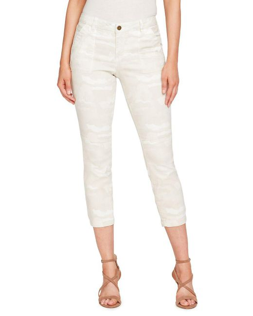 William Rast - Natural Camouflage Cropped Skinny Jeans - Lyst