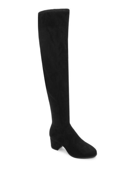 Tahari | Black Jodi Suede Over-the-knee Boots | Lyst