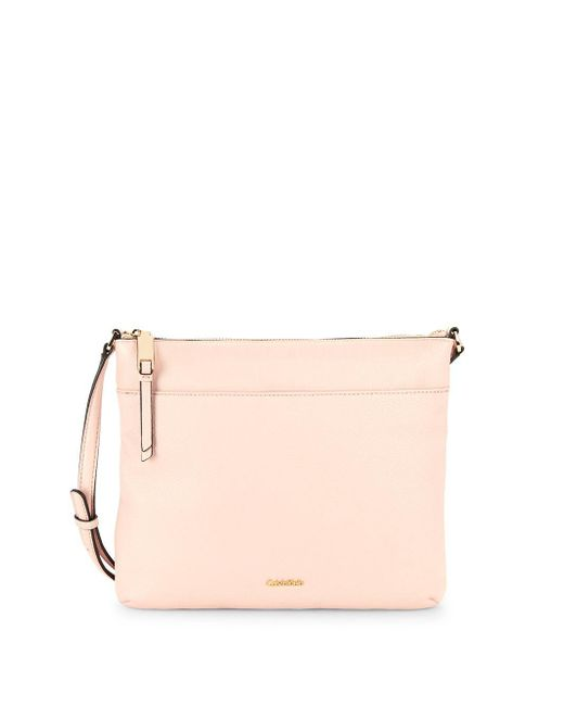 Calvin Klein - Pink Leather Crossbody Bag - Lyst
