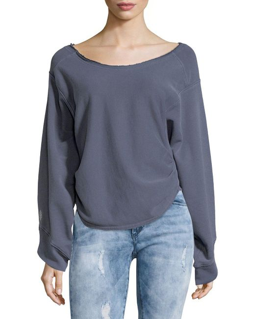 Free People - Blue Side Cinched Pullover - Lyst