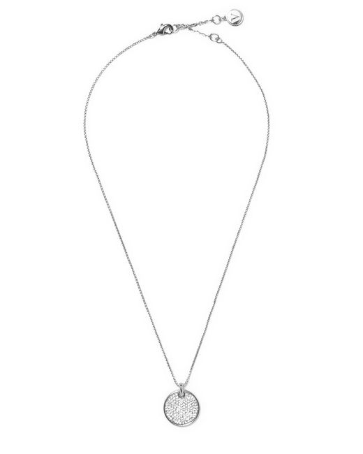 Vince Camuto - Metallic Crystal Round Pendant Necklace - Lyst