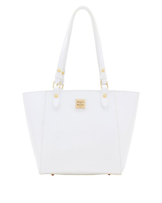 Dooney & Bourke - White Janie Patent Leather Tote - Lyst