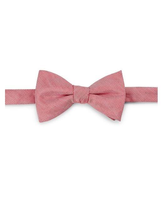 Cole Haan - Red Silk-linen Bow Tie for Men - Lyst