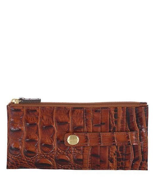Brahmin - Brown Melbourne Leather Credit Card Wallet - Lyst