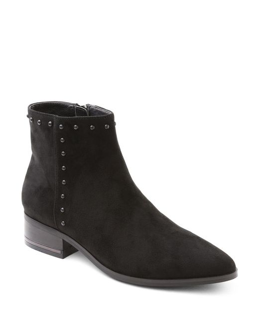 Kensie - Black Francisco Microsuede Studded Ankle Boots - Lyst