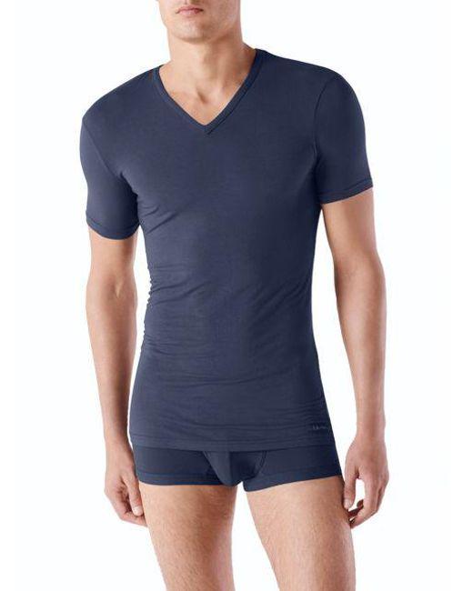 CALVIN KLEIN 205W39NYC - Blue V-neck Short Sleeve Tee for Men - Lyst