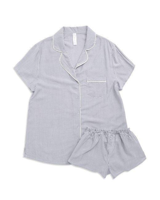 Splendid - Blue Woven Pajama Set - Lyst