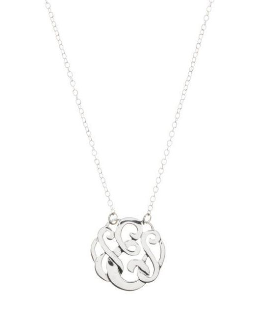 Lyst lord taylor sterling silver e initial pendant necklace in lord taylor metallic sterling silver e initial pendant necklace lyst aloadofball Images