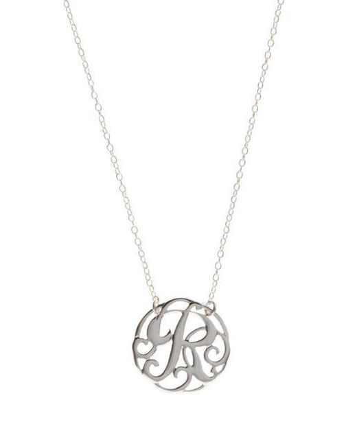 Lord & Taylor - Metallic Sterling Silver R Initial Pendant Necklace - Lyst