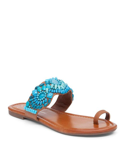 Jessica Simpson - Multicolor Toe-ring Microsuede Sandals - Lyst