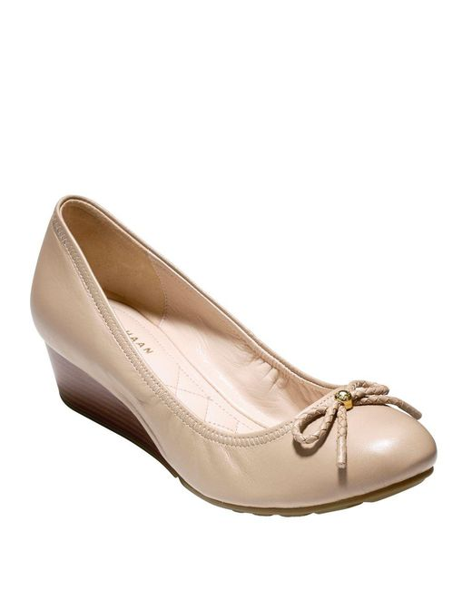 Cole Haan - Natural Tali Leather Ballet Wedges - Lyst