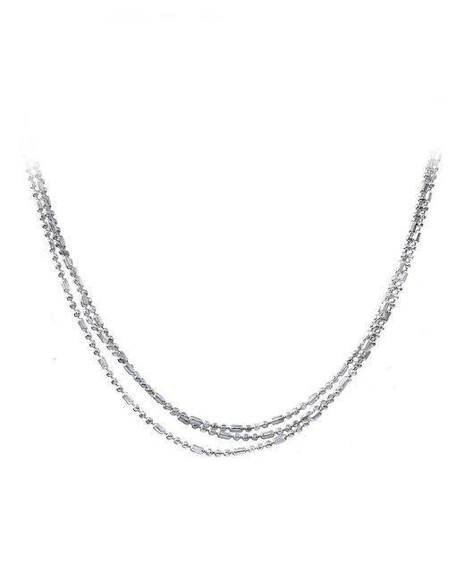 Lord & Taylor - Metallic Three-strand Sterling Silver Chain Necklace - Lyst