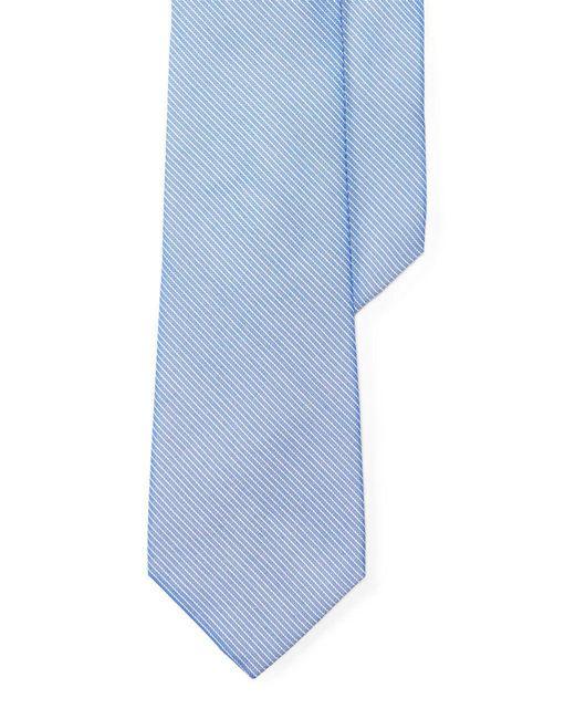 Lauren by Ralph Lauren - Blue Striped Silk-cotton Tie for Men - Lyst