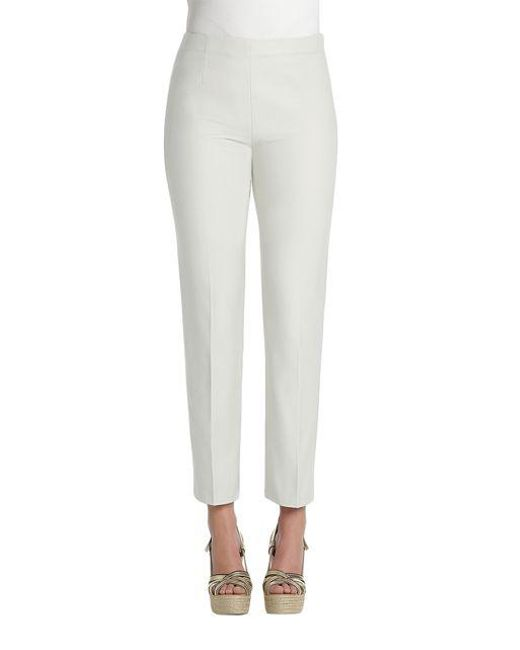 NIC+ZOE - White Petite Fitted Cigarette Pants - Lyst