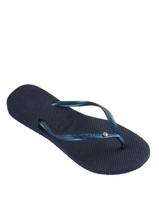 Havaianas - Blue Basic Slim Flip-flops - Lyst