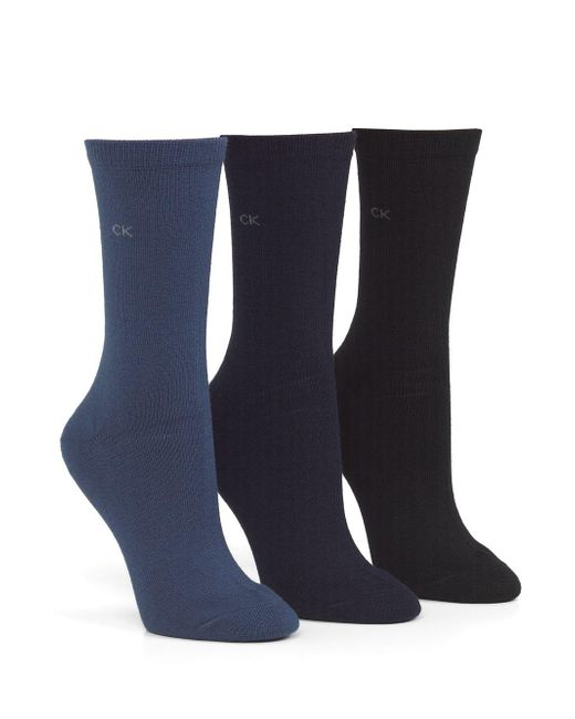 Calvin Klein - Blue Three Pack Socks - Lyst