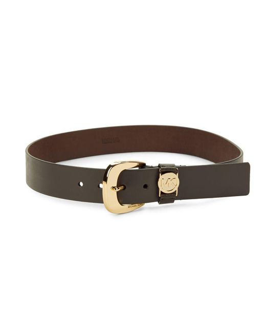 MICHAEL Michael Kors | Brown Logo Leather Belt | Lyst
