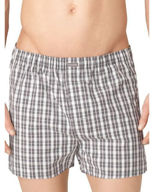 CALVIN KLEIN 205W39NYC - Gray Three-pack Woven Boxer Shorts Set for Men - Lyst