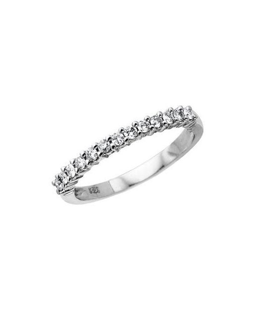 Lord & Taylor - 14 Kt. White Gold Diamond Band - Lyst