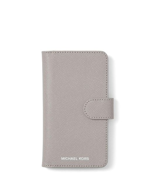 MICHAEL Michael Kors - Gray Iphone X Leather Case - Lyst