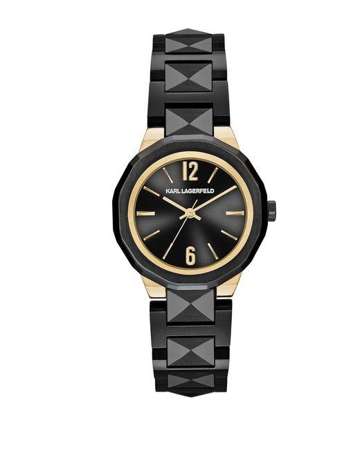 Karl Lagerfeld - Black Joleigh Stainless Steel Bracelet Watch - Lyst