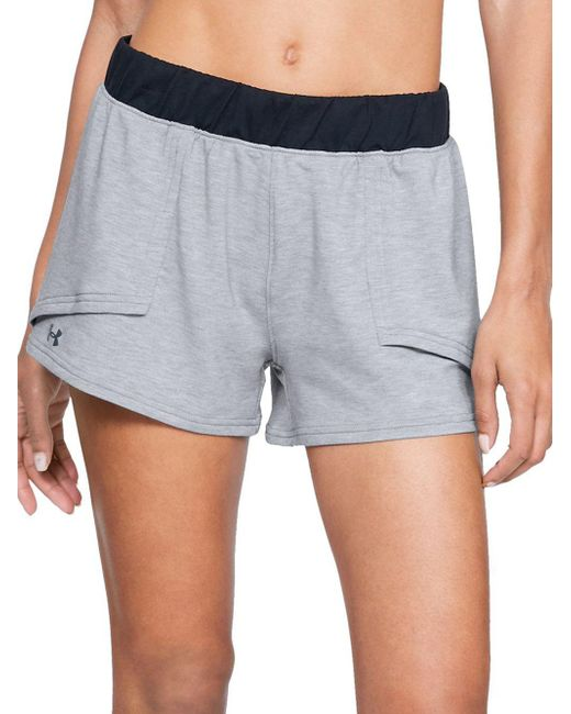 Under Armour - Gray Wide-band Logo Shorts - Lyst