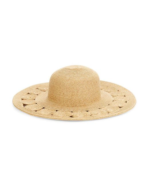 San Diego Hat Company - Brown Cutout Straw Sunhat - Lyst