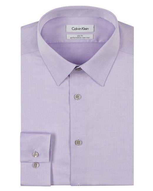 CALVIN KLEIN 205W39NYC - Purple Slim Fit Dress Shirt for Men - Lyst