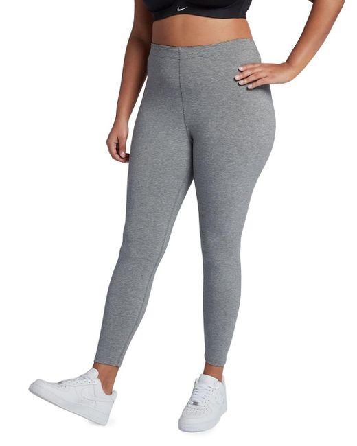 Nike - Gray Leg-a-see Leggings - Lyst