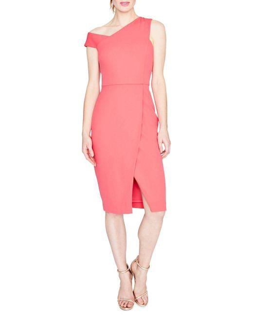 RACHEL Rachel Roy - Pink April Scuba & Crepe Knee-length Dress - Lyst