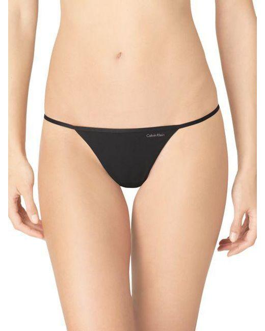 Calvin Klein | Black String Thong | Lyst