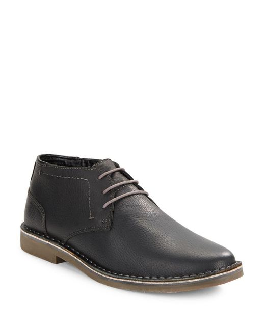 Kenneth Cole Reaction - Black Desert Leather Chukka Boots for Men - Lyst