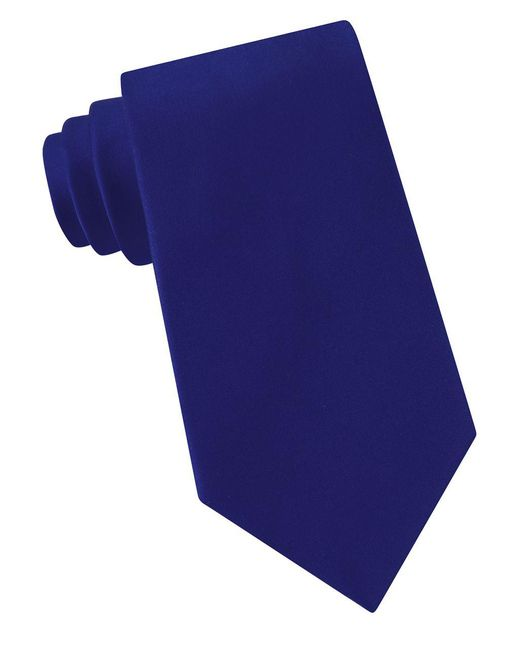 Lord & Taylor - Blue Solid Silk Tie for Men - Lyst