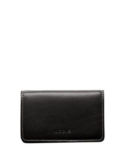 Lodis   Black Mini Leather Card Case for Men   Lyst