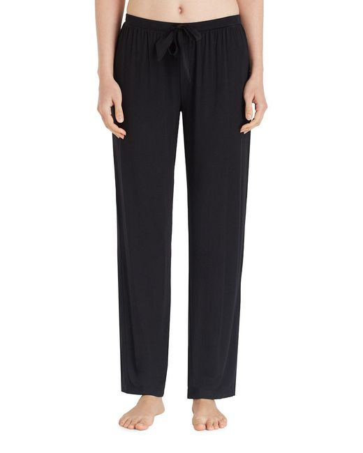 DKNY - Black Two-toned Jersey Pajama Pants - Lyst