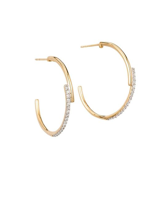 Adina Reyter Metallic Crossover 14k Yellow Gold & Diamond Hoop Earrings