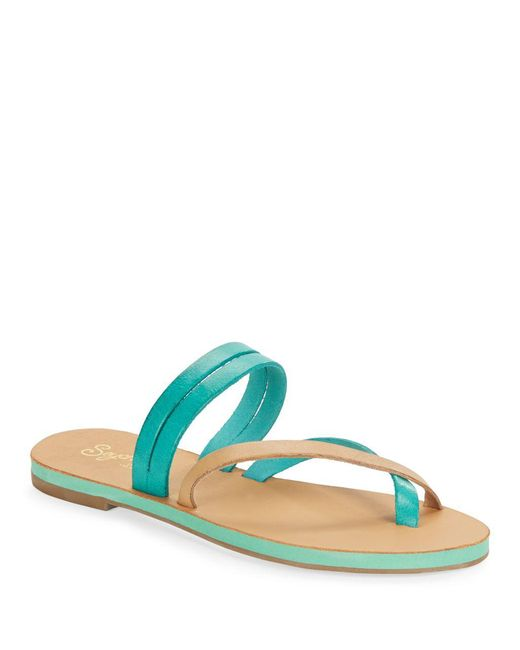 Seychelles - Multicolor Starlet Leather Double Strap Thong Sandals - Lyst
