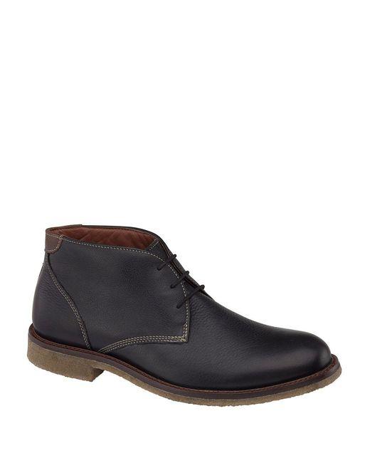 Johnston & Murphy - Black Copeland Leather Chukka Boots for Men - Lyst