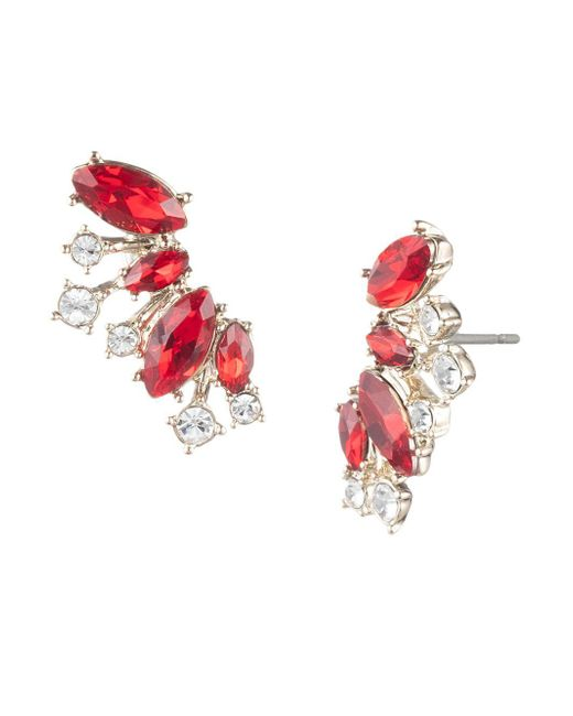 Givenchy - Metallic Goldplated And Crystal Cluster Earrings - Lyst