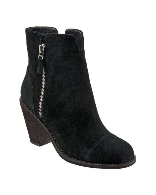 Softwalk® - Black Fairhill Suede Booties - Lyst