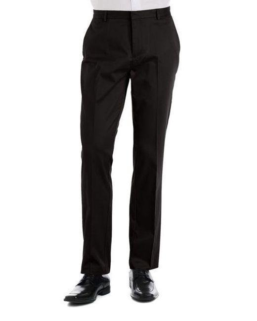 CALVIN KLEIN 205W39NYC - Black Slim Fit Flat Front Pants for Men - Lyst