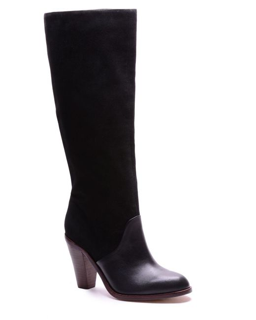 Splendid - Black Sullie Suede & Leather Boots - Lyst